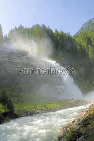 austria cachoeira montanha krimml tauern gerlos