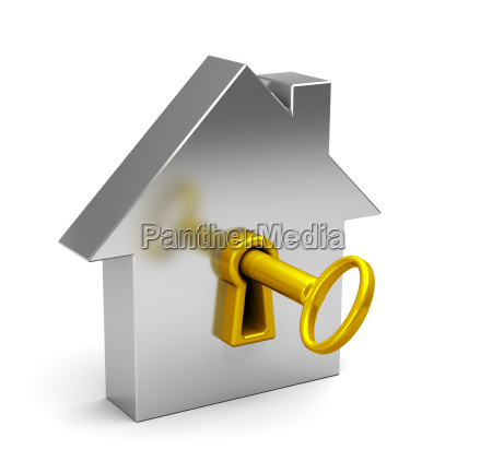 abstract house with key