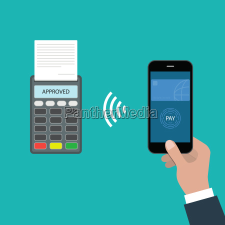 payment approved concept payment through smartphone