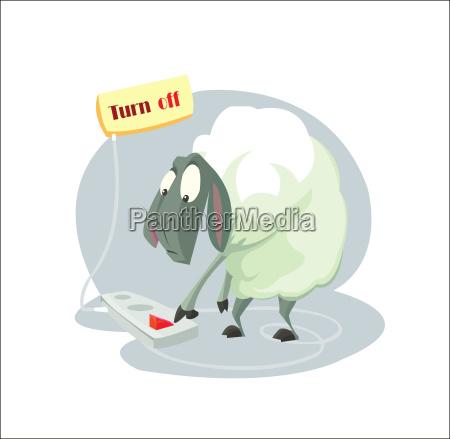 digital vector funny cartoon sheep character