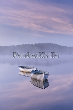 misty daybreak over loch rusky in