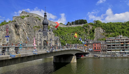 citadel of dinant on meuse river