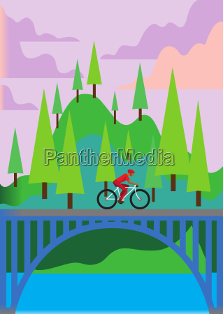 travel sport sports poster card cyclist