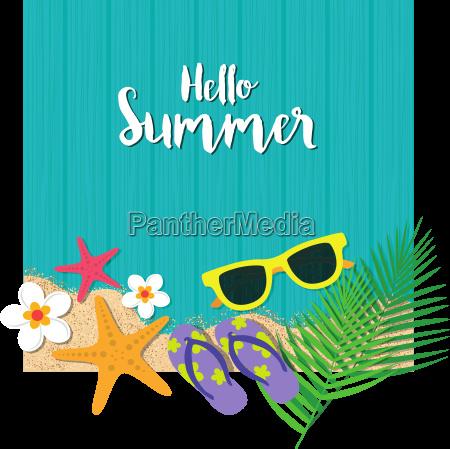 hello summer holiday background